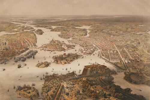 Stockholm på 1860-talet.