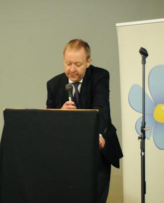 Jag talar på SD Stockholms Stads årsmöte i Alvik den 1:a mars. Foto: Per Åkesson